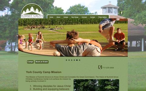 Screenshot of About Page summitgrovecamp.org - York County Camp Mission | Summit Grove - captured Oct. 19, 2018
