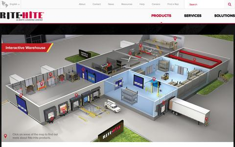 Screenshot of Products Page ritehite.com - Loading Dock Equipment, Doors, Barrier Systems & HVLS Fans - captured Oct. 8, 2017