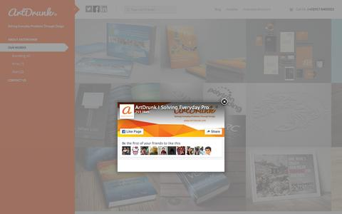 Screenshot of Home Page artdrunk.com - ArtDrunk® | Solving Everyday Problems Through Design - captured Sept. 19, 2015