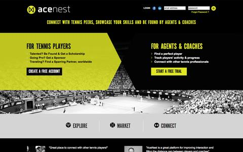 Screenshot of Home Page acenest.com - Welcome To Acenest - captured Sept. 30, 2014