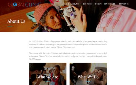 Screenshot of About Page global-clinic.org - Global Clinic - captured Nov. 8, 2016