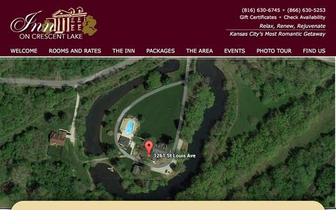 Screenshot of Contact Page Maps & Directions Page crescentlake.com - Alternative to Hotel Lodging in Excelsior Springs MO - captured Feb. 11, 2016