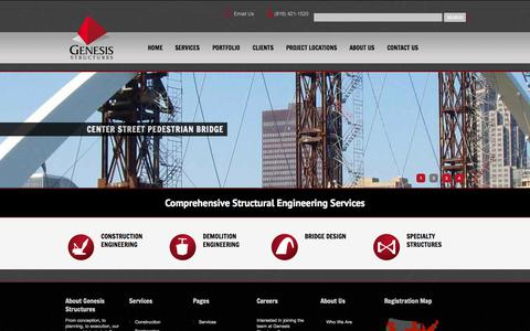 Screenshot of Home Page genesisstructures.com - Genesis Structures // WelcomeGenesis Structures // Welcome - captured Sept. 29, 2014