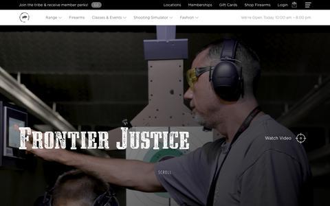 Screenshot of Home Page frontier-justice.com - Kansas City's Premier Firearms, Fashion & Shooting Range Destination - captured Dec. 10, 2018