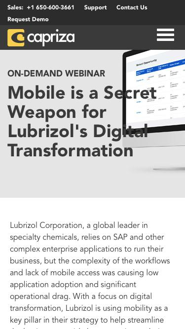 Mobile is a Secret Weapon for Digital Transformation | Capriza