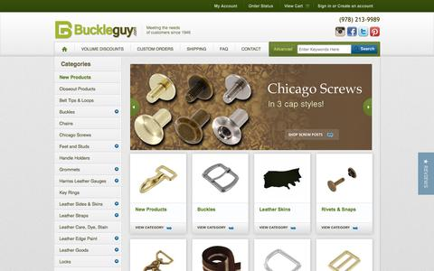 Screenshot of Home Page buckleguy.com - Handbag and Purse Hardware Supplies, Brass Buckles, Leather Hardware - captured Nov. 23, 2016