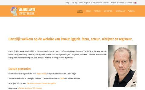 Screenshot of Home Page viadellarte.nl - Home - Ewout Eggink | Via dell'Arte - captured Sept. 21, 2018
