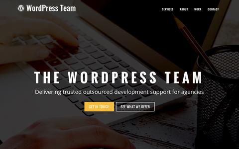 Screenshot of Home Page wordpress-team.com - The WordPress Team | Trusted outsourced development for agencies - captured Dec. 12, 2016