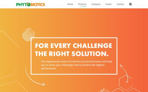 Screenshot of Products Page phytobiotics.com - Products – Phytobiotics - captured Nov. 27, 2018