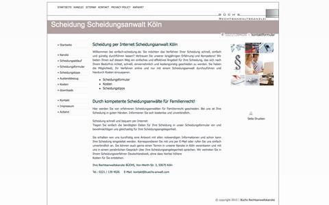 Screenshot of Home Page einfach-scheidung.de - Einfach Scheidung |  Anwalt | Scheidung Online Köln - captured June 9, 2016