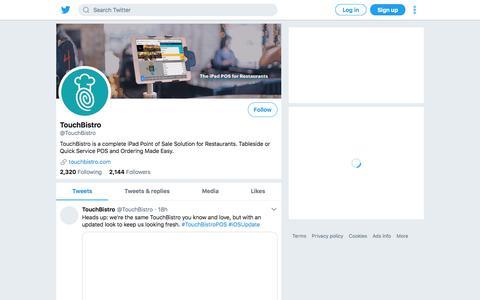 Tweets by TouchBistro (@TouchBistro) – Twitter