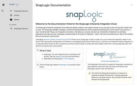 SnapLogic Documentation - SnapLogic Documentation
