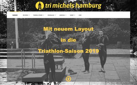 Screenshot of Home Page tri-michels.de - Tri Michels Hamburg e.V. - Startseite - captured Dec. 2, 2018