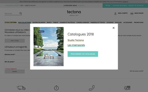 Screenshot of Login Page tectona.net - Login du client - captured Sept. 23, 2018