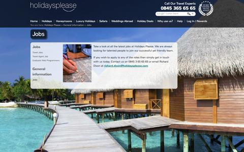 Screenshot of Jobs Page holidaysplease.co.uk - Jobs With Holidays Please - captured Sept. 24, 2014