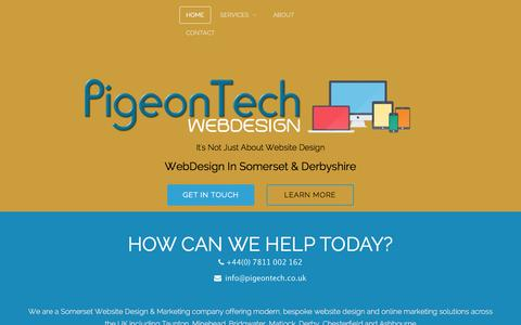 Screenshot of Home Page pigeontech.co.uk - Webdesign in Somerset - captured Jan. 28, 2016