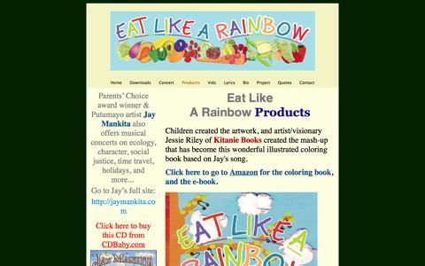 Screenshot of Products Page eat-like-a-rainbow.com - Eat Like A Rainbow Products - captured Oct. 28, 2014
