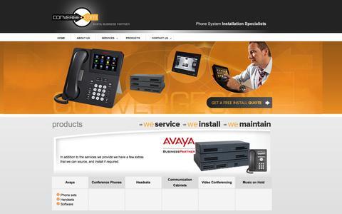 Screenshot of Products Page convergecom.com.au - Convergecom | Avaya Business Partner - captured Sept. 30, 2014