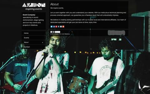 Screenshot of About Page azidon.com - About | Azidon - captured Oct. 4, 2014