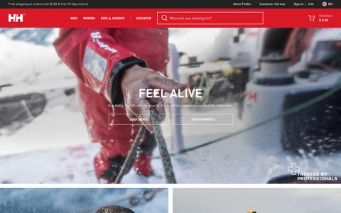 Screenshot of Home Page hellyhansen.com - Helly Hansen | Skiing, Sailing, & Outdoor Apparel | HH - captured July 18, 2018