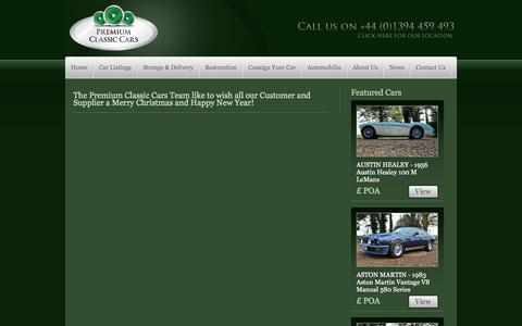Screenshot of Press Page premiumclassiccars.com - News  | Premium Classic Cars | Classic Car Sales - captured Sept. 23, 2014