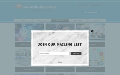 Screenshot of Services Page cwcastle.com - cwc-main | SERVICES - captured Dec. 16, 2018