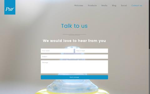 Screenshot of Contact Page purbrands.com - Contact us – Purbrands - captured July 6, 2017