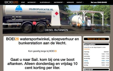 Screenshot of Home Page boei26.nl - BOEI26 Watersport en Wintersport - BOEI26 - captured Sept. 4, 2015