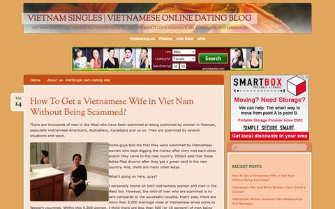 Screenshot of Blog vietdating.us - Vietnam Singles   Vietnamese Online Dating Blog - captured Oct. 31, 2014