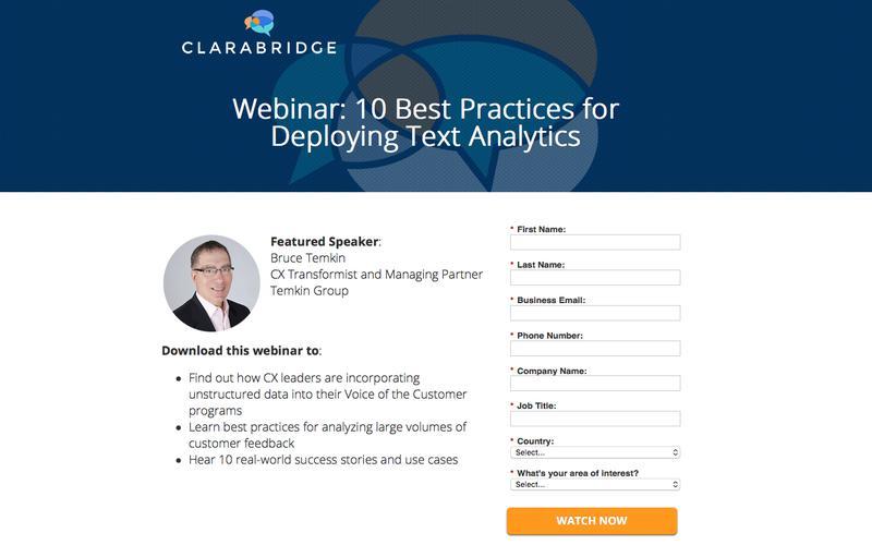 CX Webinar with Bruce Temkin: 10 Best Practices for Deploying Text Analytics | Clarabridge