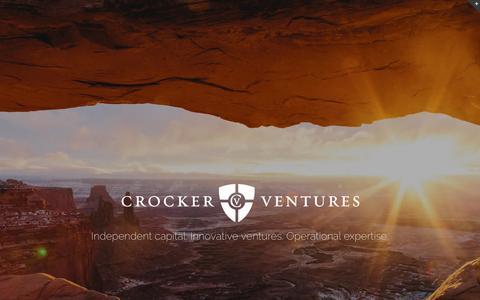 Screenshot of Home Page crockerventures.com - Crocker Ventures – Crocker Ventures life science and healthcare investment firm - captured Nov. 14, 2016