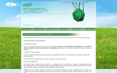 Screenshot of Menu Page wellosarg.com - Wellos Argentina - captured Oct. 7, 2014
