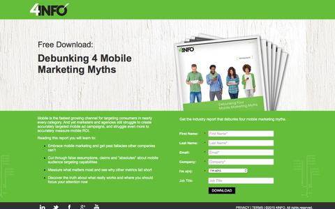 4 Mobile Marketing Myths