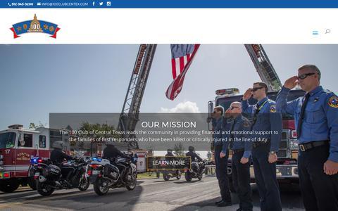 Screenshot of Home Page 100clubcentex.com - Home | The 100 Club of Central Texas - captured Oct. 26, 2017