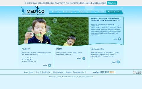 Screenshot of Home Page medico.tychy.pl - Medico s.c. - captured Oct. 6, 2015