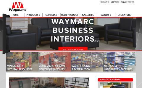 Screenshot of Home Page waymarc.com - Materials Handling Equipment - captured Oct. 6, 2014