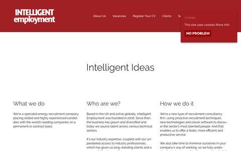 Screenshot of About Page intelligentemployment.com - Energy Recruitment Specialists   Intelligent Employment - captured June 7, 2017