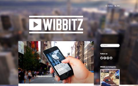 Screenshot of Blog wibbitz.com - Wibbitz - captured Sept. 12, 2014