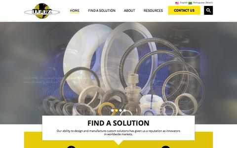 Screenshot of Home Page utexind.com - Custom Rubber Molding | Fluid Sealing Solutions | Utex Industries, Inc. - captured Oct. 7, 2014