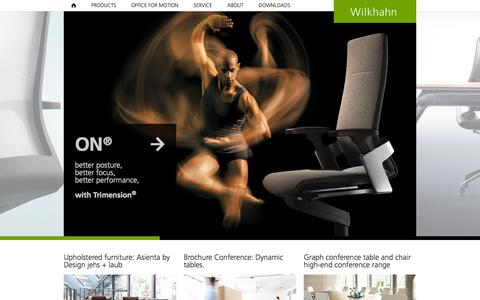 Screenshot of Home Page wilkhahn.com - office furniture - swivel chairs - conference table - architect service - captured Sept. 19, 2014