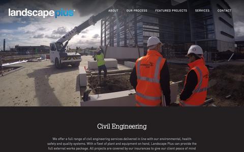 Screenshot of Services Page landscapeplus.com.au - Civil Engineering - Landscape Plus Group - captured Oct. 21, 2016