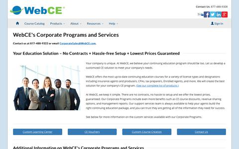 Corporate Programs | WebCE