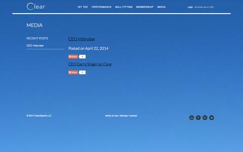 Screenshot of Press Page clear-golf.com - Media - captured Sept. 29, 2014