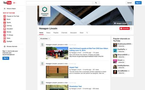 Screenshot of YouTube Page youtube.com - Hexagon Lincoln  - YouTube - captured Oct. 22, 2014