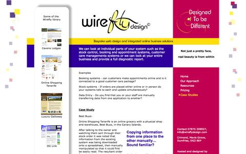 Screenshot of Case Studies Page wireflydesign.com - What type of problems are we able to help with? - captured Oct. 26, 2014