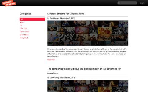 Screenshot of Blog concertwindow.com - Index | Concert Window - captured Nov. 14, 2015