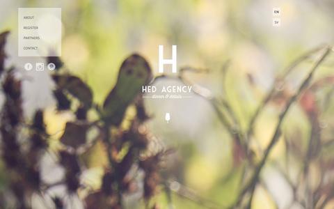 Screenshot of Home Page hedagency.com - Hed Agency - captured Sept. 29, 2014