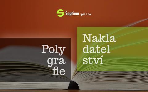 Screenshot of Home Page septima.cz - Septima spol. s r.o. - Septima - captured Oct. 30, 2018