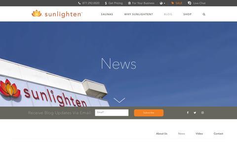 Screenshot of Press Page sunlighten.com - In the NewIn the News | Infrared Saunas | Sunlighten<s | Infrared Saunas | Sunlighten - captured Dec. 5, 2016
