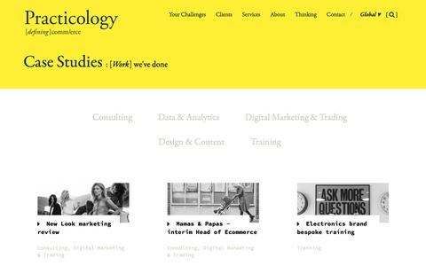 Screenshot of Case Studies Page practicology.com - Multichannel retail & ecommerce case studies - Practicology - captured May 19, 2017